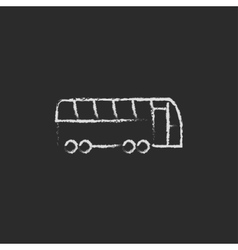 Tourist bus icon drawn in chalk vector