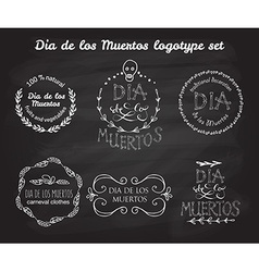 Day of the dead logotype set vector