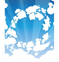sky and sunlight vector image
