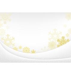 White Xmas Greeting Card vector image