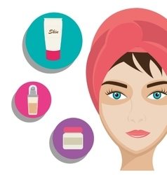Make-up and womens cosmetics vector