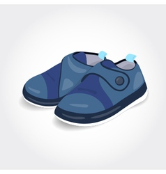 Realistic blue baby shoes for a boy vector