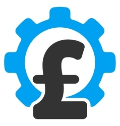Pound financial industry flat icon symbol vector
