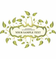 label leaf vector image