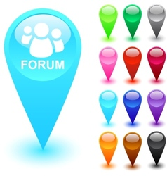 Forum button vector image