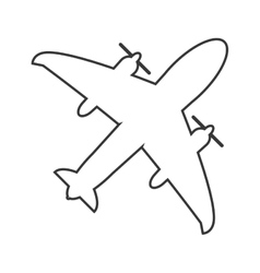Flying airplane icon vector