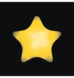 Star watercolor isolated icon design vector