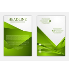 Abstract green corporate tech flyer design vector