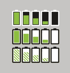 Battery load vector image