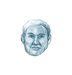 Blue man identikit drawing vector
