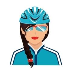 cyclist sunglasses helmet icon vector image
