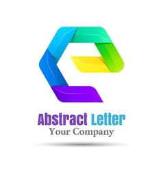 E letter logo icon element design template for vector