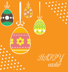 easter template vector image