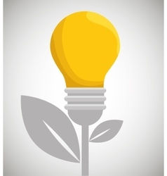Eco energy bulb concept environment vector
