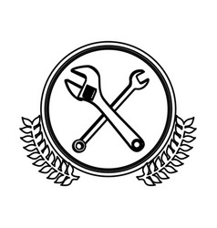 Figure symbol wrench and monkey wrench icon vector