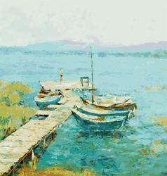 lake shore vector image vector image