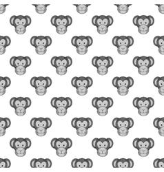 Monkey face seamless pattern vector