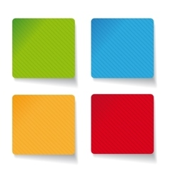 Paper sticker set vector