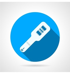 Round icon for positive pregnancy test vector