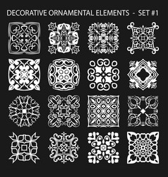 set of abstract ornamental elements vector image vector image