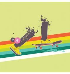 skateboard rider vector image vector image