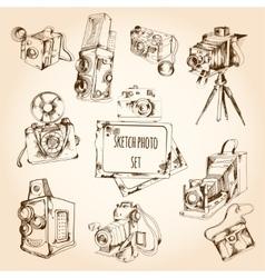 Sketch photo set vector