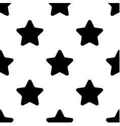 stars black seamless pattern on white background vector image