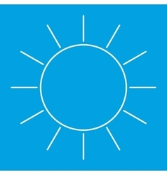 Sun thin line icon vector