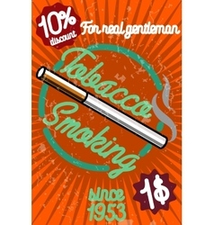 Tobacco shop banner vector image vector image