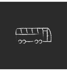 Tourist bus icon drawn in chalk vector