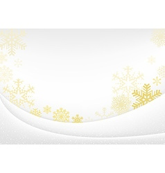 White Xmas Greeting Card vector image vector image
