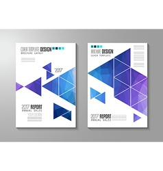Cover design document template vector