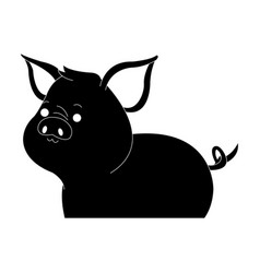 Pig cute animal cartoon icon image vector