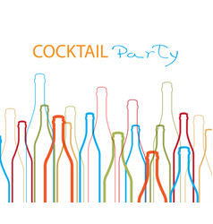 Cocktail party ilustration design vector