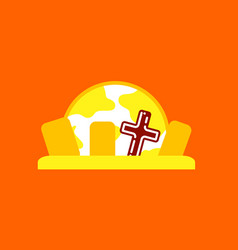 Flat icon on background halloween cemetery full vector