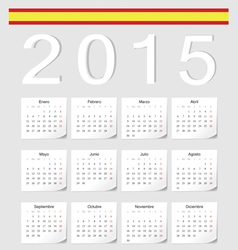 Spanish 2015 calendar with stickers vector