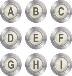 alphabet button ai vector image