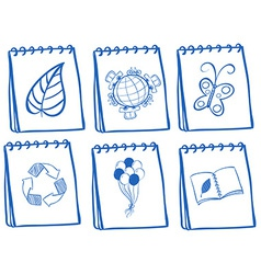 Different notebook icons vector image