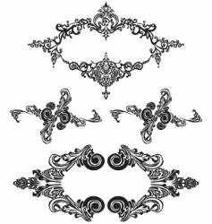 victorian ornaments vector image