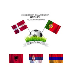 2016 soccer championship group i qualifying draw vector