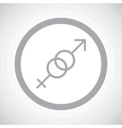 Grey gender sign icon vector