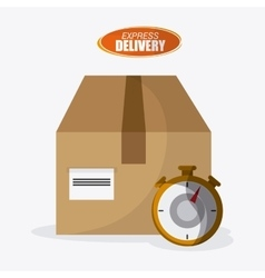 Express delivery box design vector