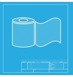 Toilet paper sign white section of icon on vector
