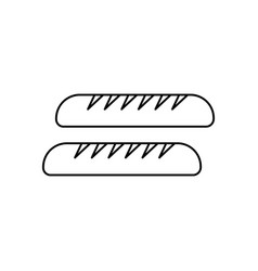 baguette line icon sign on vector image vector image
