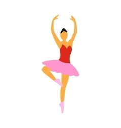 Ballerina flat icon vector