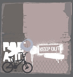 BMX bike on the wall vector image