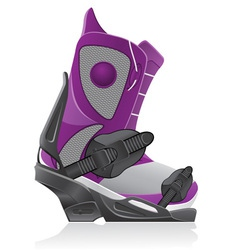 boot and binding for snowboarding vector image
