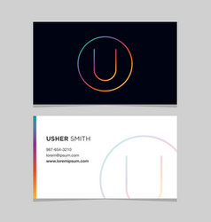 Business-card-letter-u vector