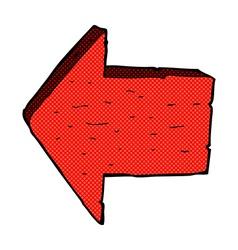 Comic cartoon pointing arrow sign vector