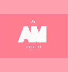 Design of alphabet letter logo am a m combination vector